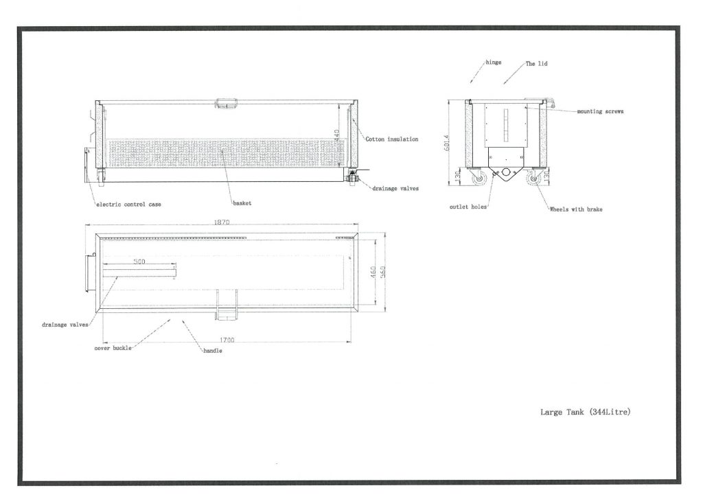 new-346 Liter Kitchen Soak Tank